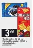 Christie Cookies - 453-523 g Or Premium Plus Crackers - 450/500 g