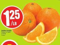 Seedless Oranges Product of Spain 2.76/kg Oranges