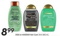Ogx or Aveeno Hair Care 354-385 mL