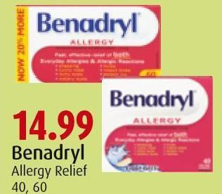 Benadryl Allergy Relief 40 - 60