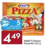 Kraft Cheese Pizza Kit 450 g - 5 Air Miles Bonus Miles
