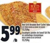 Red Grill Breaded Beef Cutlet Value Pack