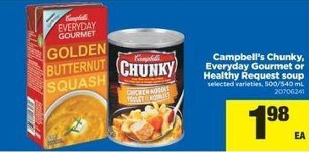 Campbell's Chunky - Everyday Gourmet Or Healthy Request Soup - 500-540 mL