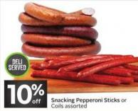 Snacking Pepperoni Sticks