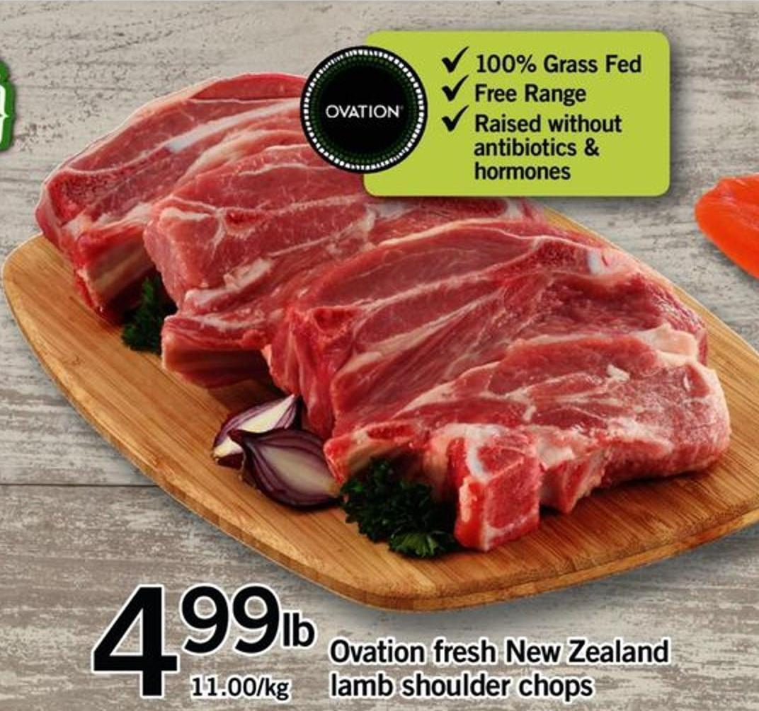 Ovation Fresh New Zealand Lamb Shoulder Chops