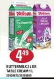 Neilson Buttermilk - 2 L Or Table Cream - 1 L