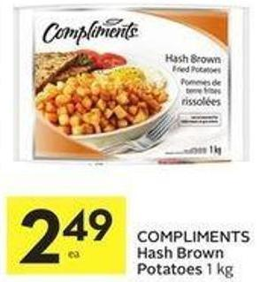 Compliments Hash Brown Potatoes 1 Kg