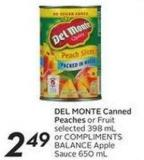 Del Monte Canned Peaches