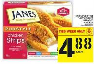 Janes Pub Style Fully Cooked Breaded Chicken 700 G Frozen
