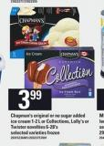 Chapman's Original Or No Sugar Added Ice Cream - 1-2 L Or Collections - Lolly's Or Twister Novelties - 6-28's
