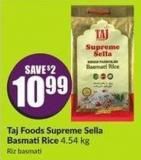 Taj Foods Supreme Sella Basmati Rice 4.54 Kg