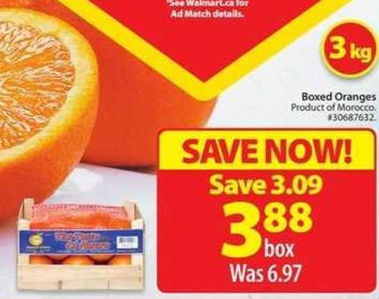 Boxed Oranges