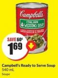 Campbell's Ready To Serve Soup 540 mL