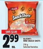 Bloom's Mini Snack Shots 216 g