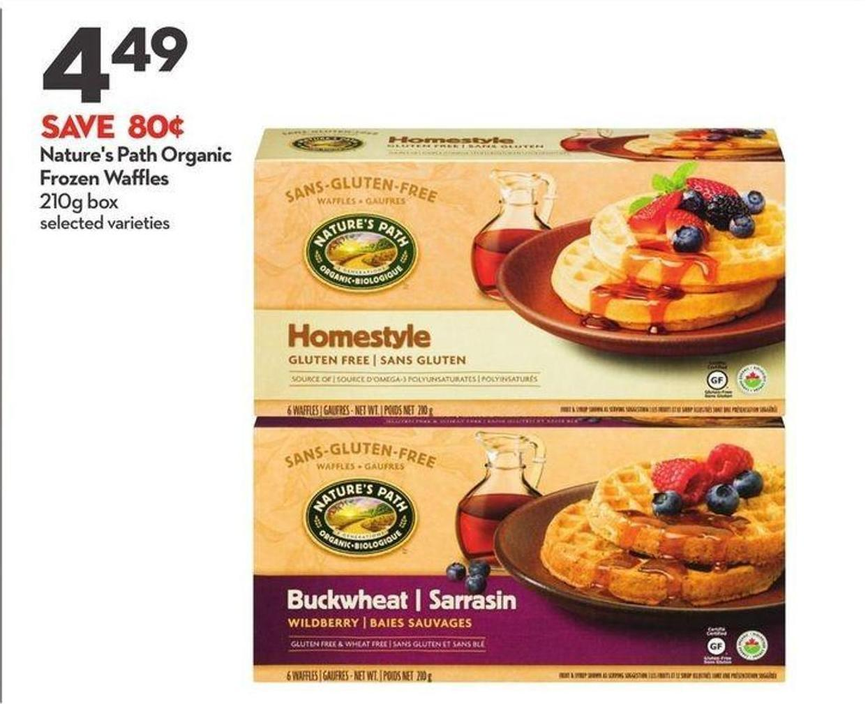Nature's Path Organic Frozen Waffles