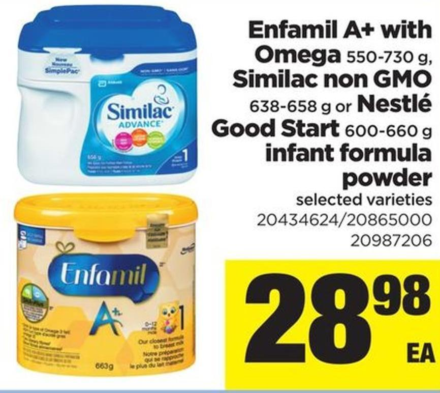 Enfamil A+ With Omega 550-730 G - Similac Non Gmo - 638-658 G Or Nestlé Good Start - 600-660 G Infant Formula Powder