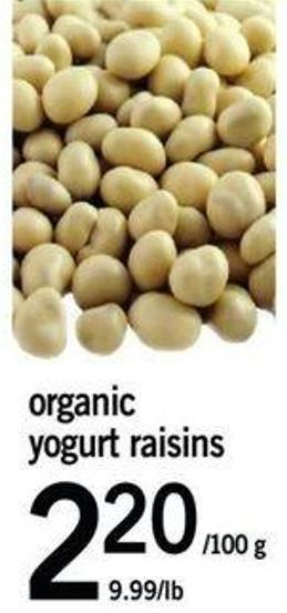 Organic Yogurt Raisins