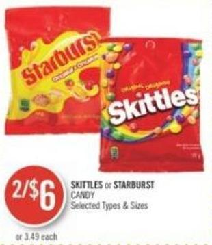 Skittles or Starburst Candy