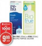 Bio True (300 Ml) or Renu (355 Ml) Multiple Purpose Solution