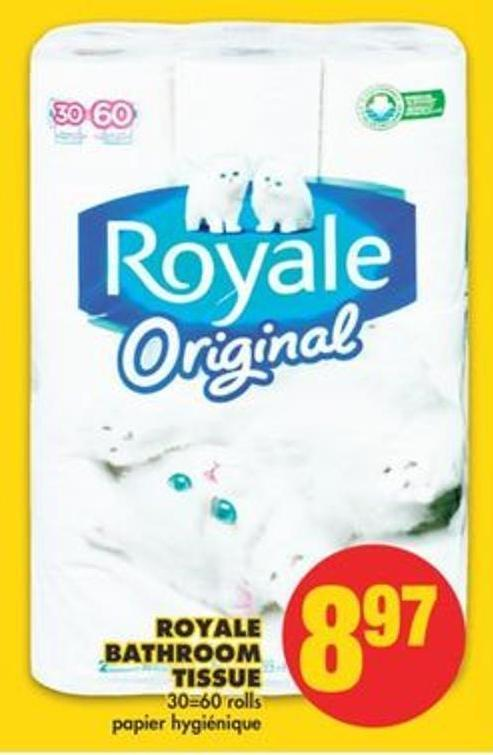 Royale Bathroom Tissue 30=60 Rolls
