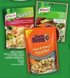 Uncle Ben's Fast & Fancy Rice Or Knorr Sidekicks Or Soup