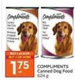 Compliments Canned Dog Food 624 g