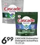 Cascade Dishwasher Detergent Actionpacs