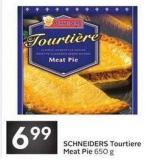 Schneiders Tourtiere Meat Pie 650 g