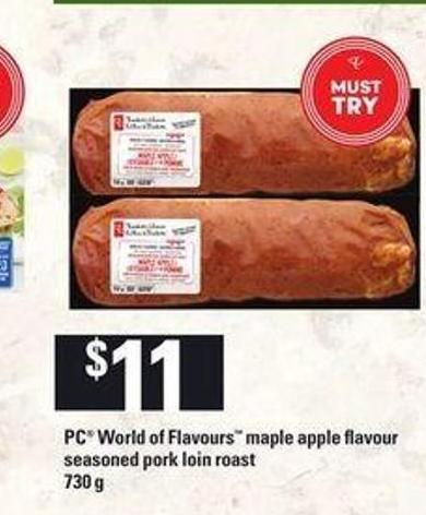 PC World Of Flavours Maple Apple Flavour Seasoned Pork Loin Roast - 730 g