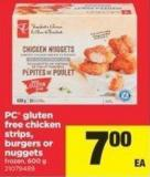 PC Gluten Free Chicken Strips - Burgers Or Nuggets - 600 g