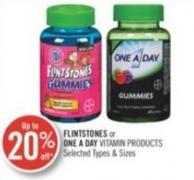 Flintstones or One A Day Vitamins Products