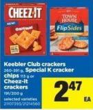 Keebler Club Crackers 260-391 G - Special K Cracker Chips 113 G Or Cheez-it Crackers 191/200 G