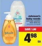 Johnson's Baby Needs.400-600 Ml
