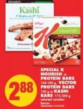 Special K Nourish or Protein Bars - 144-180 g - Vector Protein Bars - 160 g Or Kashi Bars - 175/200 g