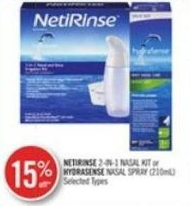Netrinse 2-in-1 Nasal Kit or Hydrasense Nasal Spray (120 Ml)
