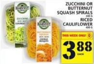 Zucchini Or Butternut Squash Spirals Or Riced Cauliflower