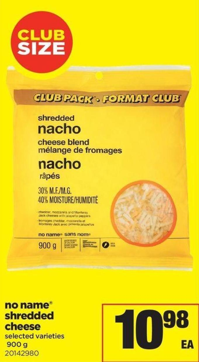 No Name Shredded Cheese - 900 g