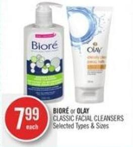 Bioré or Olay Classic Facial Cleansers