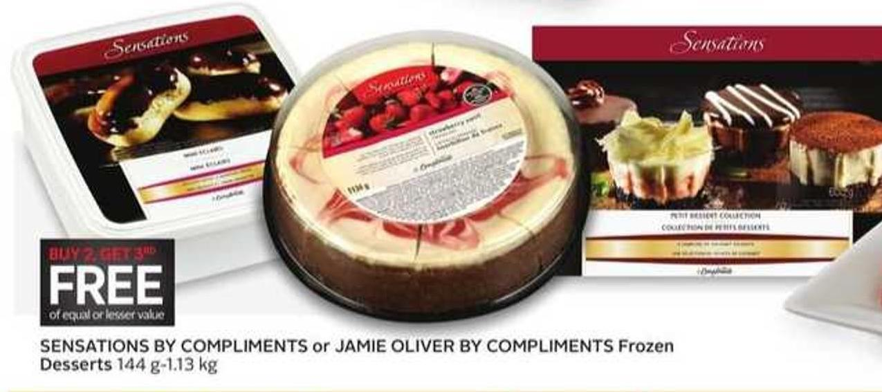 Sensations By Compliments or Jamie Oliver By Compliments Frozen Desserts