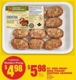 PC Free From Mild Italian Cocktail Sausage - 375 g