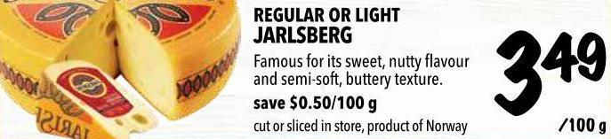 Regular Or Light Jarlsberg