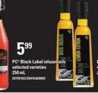 PC Black Label Infused Oils - 250 mL