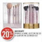 Quo Beauty Sparkle & Shine - Glitz On The Go or Glam On The Go Brush Set