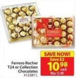 Ferrero Rocher T24 or Collection Chocolates
