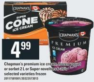 Chapman's Premium Ice Cream - Frozen Yogurt Or Sorbet 2 L Or Super Novelties 6-20's