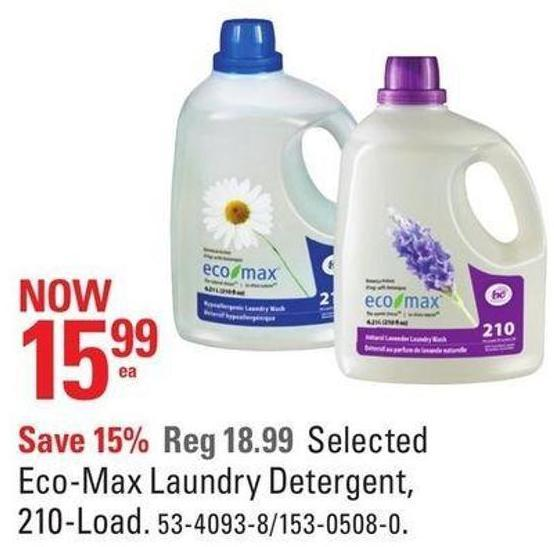Selected Eco-max Laundry Detergent - 210-load