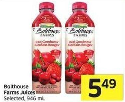 Bolthouse Farms Juices Selected - 946 mL