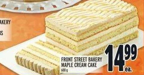 Front Street Bakery Maple Cream Cake