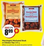 Marcangelo Marinated Steak or Chicken Tips 600 g