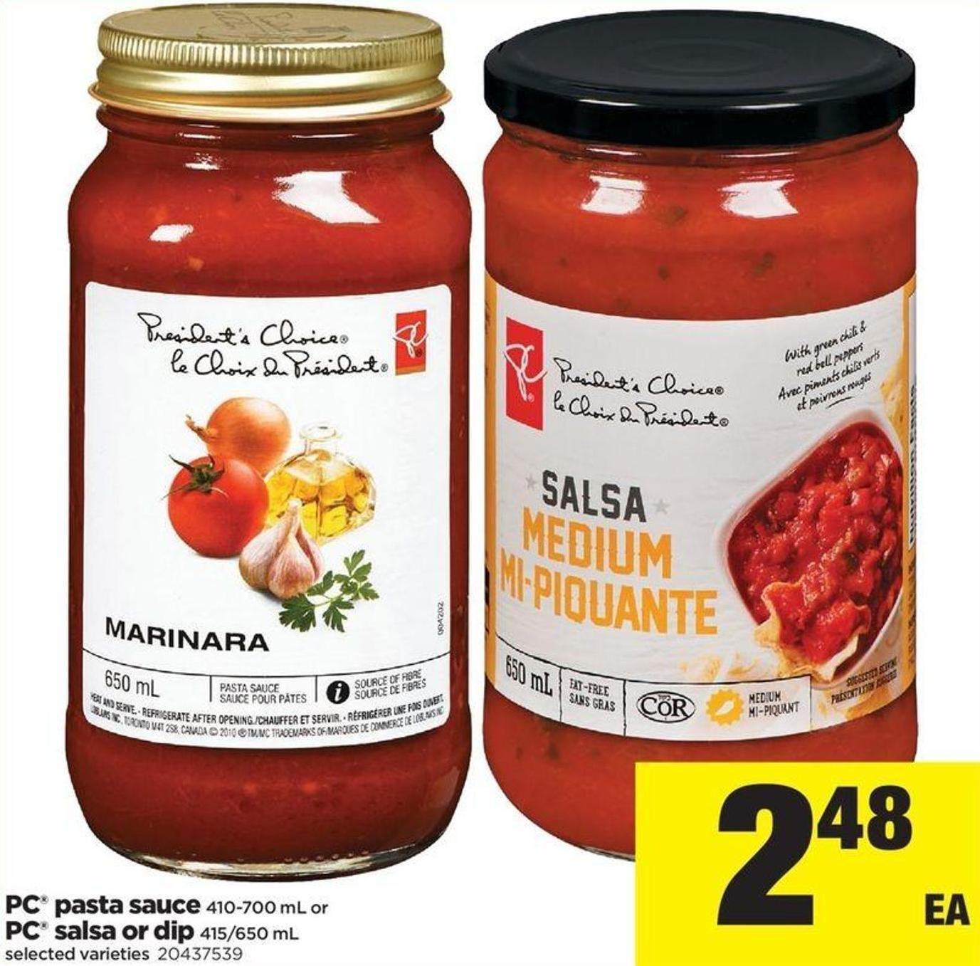 PC Pasta Sauce - 410-700 Ml Or PC Salsa Or Dip - 415/650 Ml